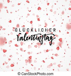 Happy Valentines Day lettering German Inscription handmade....