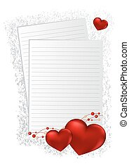 Happy Valentines Day lettering Greeting Card on red background