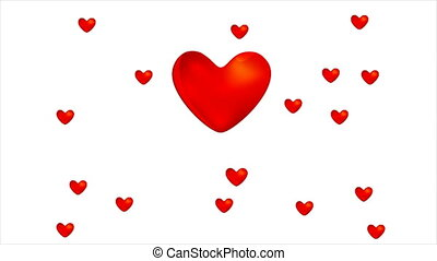 Happy Valentines day love hearts video clip footage