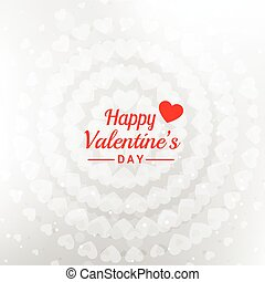 happy valentines day message in white background