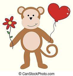 Happy Valentines Day Monkey