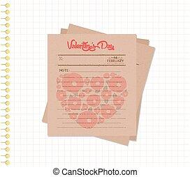 happy valentines day notes retro