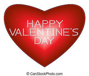 Happy Valentine's Day on heart