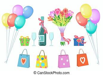 Happy valentines day or birthday gift set.