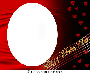 Happy Valentines Day oval frame