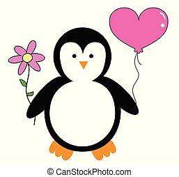 Happy Valentines Day Penguin