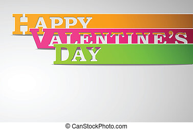 Happy Valentine's Day strips eps10 vector illustration