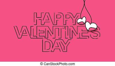 Happy Valentines day Text Design