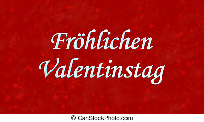 """Happy Valentine's Day text in German """"Frohlichen..."""