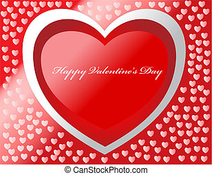Happy Valentine\'s day vector card with hearts and effects.