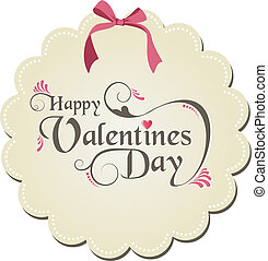 Happy valentines day - Happy valentine day ribbon and...