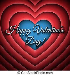 Happy Valentines Day vector retro background