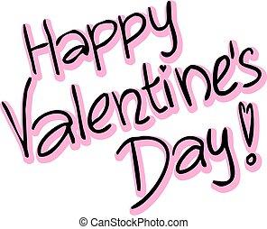 Happy Valentines Day - vector text