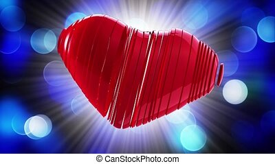 Happy Valentine's Day. Video greetings to Valentine's Day. In the center of a red heart.