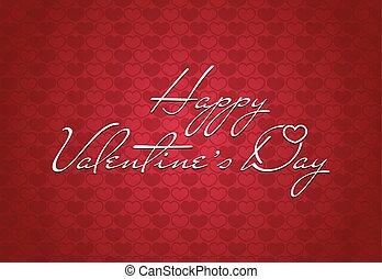 Happy Valentine's Day vintage card background
