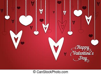 Happy Valentine's Day vintage card background