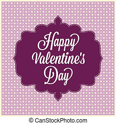 Happy Valentine's Day. Vintage Card