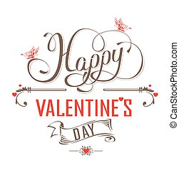 Happy Valentines Day Vintage Poster Happy Valentines Day Retro