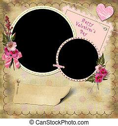 Happy Valentine's Day - Vintage Photo Album.