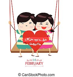happy valentines day with couple