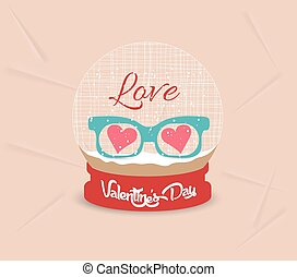 happy valentines day with glasses