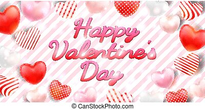 happy valentine's day with heart background