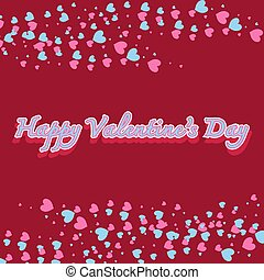 Happy valentines day with hearts background