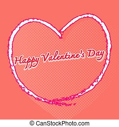 Happy valentines day with many hearts background