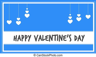 Happy valentines day with motion love animation collection