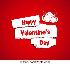Happy Valentines day with paper dri