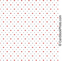 Happy valentines day with red, purple, gray hearts pattern on white background.