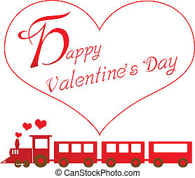 happy valentines day with train