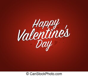Happy valentine's day words in red background. vector illustration.