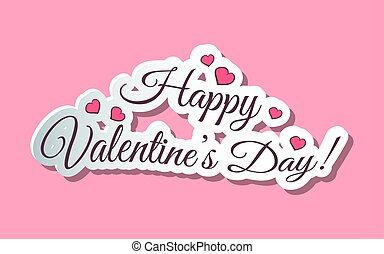 Happy Valentines Day Words Pink