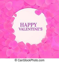 Happy Valentines leaflet illustration