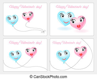 Happy Valentin`s Day cards.