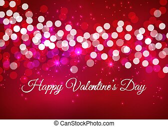 Valintines Day background with bokeh lights