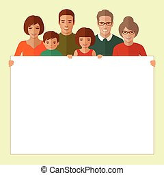 happy vector family portrait,