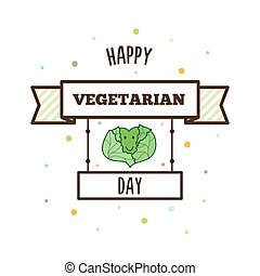 Happy Vegetarian Day. Vector illustration.