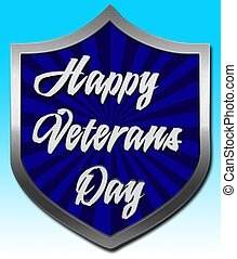 Happy Veterans Day, 3D Illustration, Honoring all who served, American holiday template.