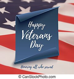 Happy Veterans Day background template. - Happy Veterans Day...