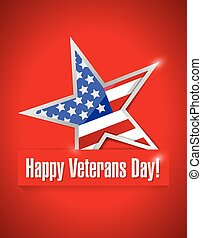 happy veterans day card illustration