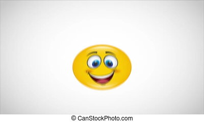 Happy Video animation - Yellow happy face Video animation,...