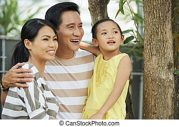 Happy Vietnamese family