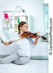 Happy violinist