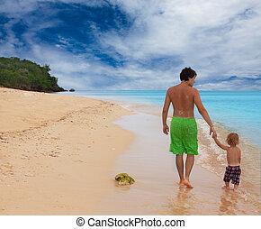 happy walk by the sea