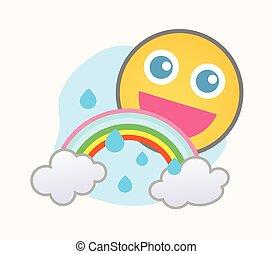 Happy Weather - Cartoon Smiley