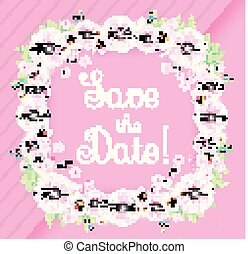 Happy wedding day greeting card vector illustration happy wedding day greeting card template cute and soft floser design template birthday m4hsunfo