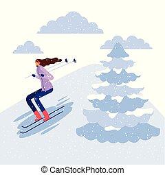 happy winter people vacation - happy winter vacation alp...