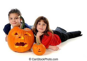 Happy with Pumpkins